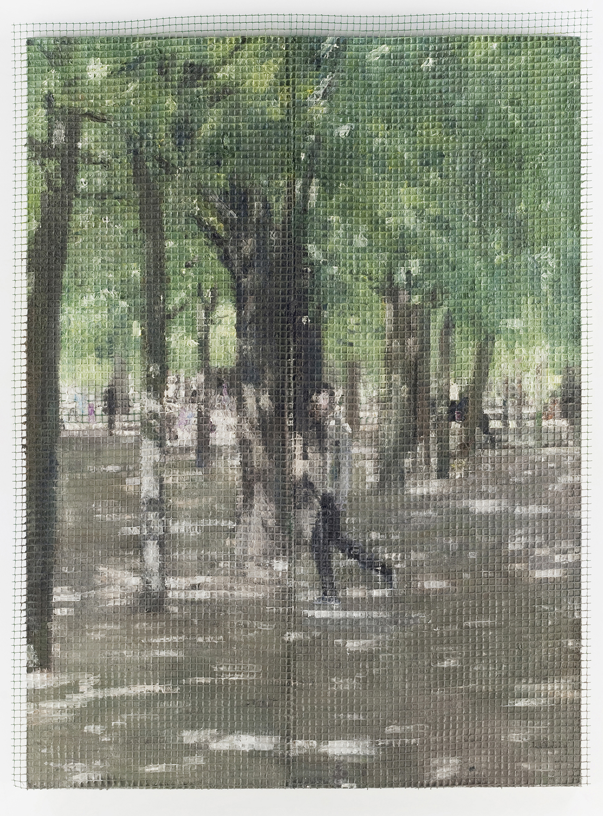 Jardin du Luxembourg I., 2012, oil on canvas, 230 x 170 cm